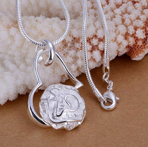 Wholesale NEW  Womens Fashion 925Silver Jewelry Pendant Necklace Silver Chain