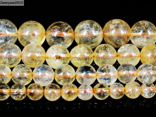 AAA Natural Citrine Gemstone Round Loose Beads 15/'/' Strand 4mm 6mm 8mm 10mm 12mm
