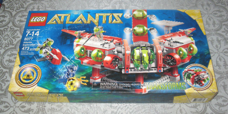 Lego Atlantis Exploration HQ No 8077 MB FREE FREE FREE SHIPPING 9f3a13