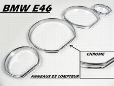 BMW E46 3 SERIES 98-06 CROMO ANELLI CROMATI CROMATE TACHIMETRO QUADRO STRUMENTI