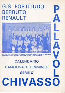 Fortitudo Calendario.Dettagli Su G S Fortitudo Berruto Renault Pallavolo Chivasso Torino Calendario 1980 1 146