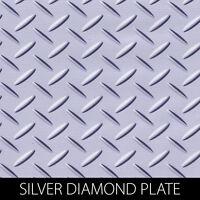 Silver Diamond Plate Metal Accent Design Hydrographic Film Dip Stick Hydro