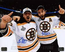 Patrice Bergeron Brad Marchand Bruins Signed Autographed Cup Celebration 8x10