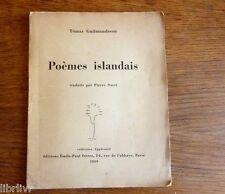 POEMES ISLANDAIS Tomas Gudmundsson Tiré à 500 exemplaire en 1939