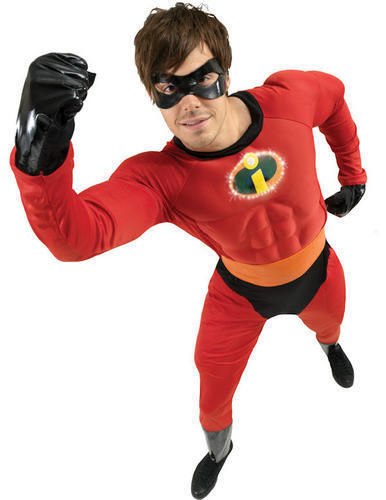 Mr Incredible Mens Fancy Dress Disney/'s The Incredibles Superhero Costume Outfit