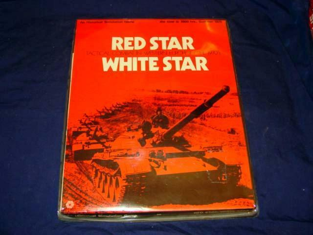 SPI - rot Star Weiß Star - Tactical Combat in Western in the 1970's  ( 90% Unp)