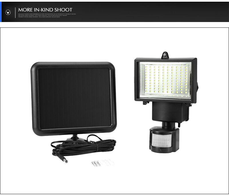 Solaire Extérieur Led Lampe Capteur Mouvement Jardin 60 Détecteur Projecteur dtQrsCh