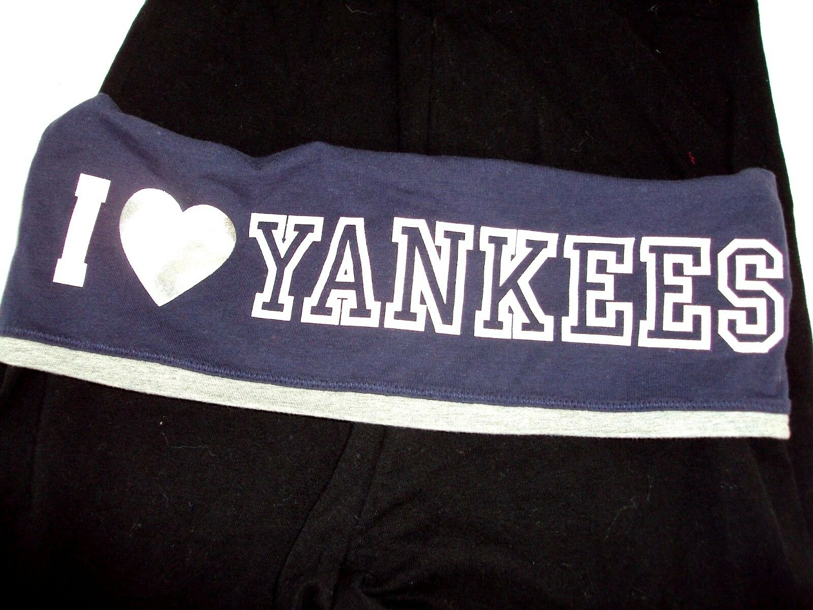Victorias Secret PINK Leggings Yoga Pants New York Yankees NY Crop Capris XS Nwt