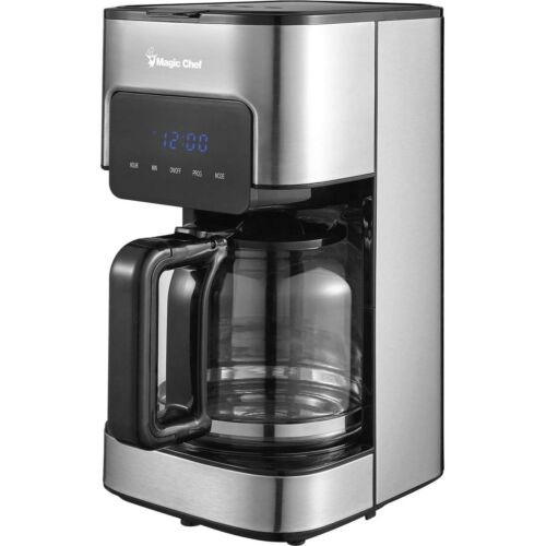 mcscm12ss Magic Chef 12-Cup Coffee Maker in Stainless Steel