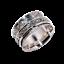 Solid-925-Sterling-Silver-Handmade-Wide-Band-Fidget-Spinner-Ring-Meditation-Ring thumbnail 4