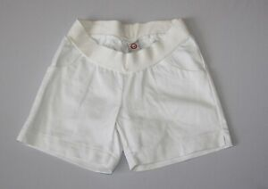 Japanese Weekend Maternity Casual White Cotton Pocket Twill Shorts Small 6 8 New