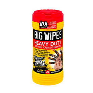 Big Wipes BW010961 Extra Heavy-Duty Industrial Scrub and Clean Wipes (80-Pack)
