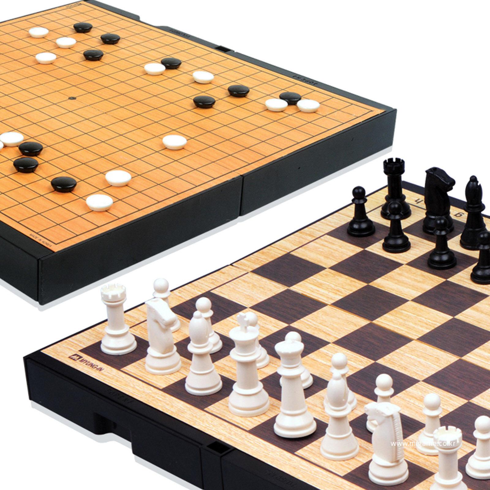 Myungin magnétique deux côtés Go board jeu d'échecs weiqi baduk piece Portable
