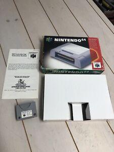 Genuine-OEM-Nintendo-64-N64-Controller-Memory-Pak-NUS-004-CIB-Complete-In-Box