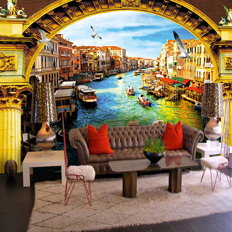 3D Wasserstadt 214354 Fototapeten Wandbild Fototapete BildTapete FamilieDE