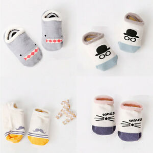 2xNew-Baby-Asymmetrical-Ship-Sock-Cartoon-Socks-Kids-Anti-Slip-Floor-Socks-Gt