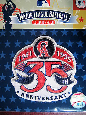 MLB California Angels 35th Anniversary Patch 1995