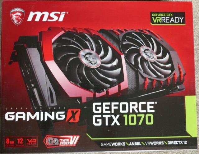 MSI NVIDIA GeForce GTX 1070 Gaming X 8GB Still under warranty