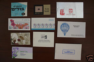 10 DIFFERENT ISRAEL STAMP BOOKLETS #3