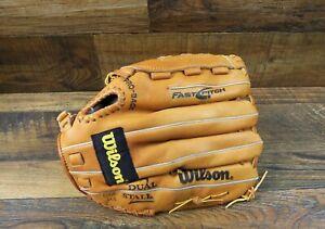 "Wilson Uproar 13/"" Baseball Slow Pitch Softball Glove Black//Red Left Hand Throw"