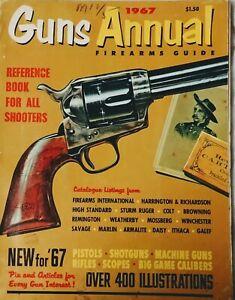 1967 Guns Annual Firearms Guide Over 400 Illust.Rifles Pistols Shotguns