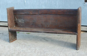 Furniture Benches & Stools Very Old Antique Oak Pew Possibly Elizabethan Ref 806 Ample Supply And Prompt Delivery