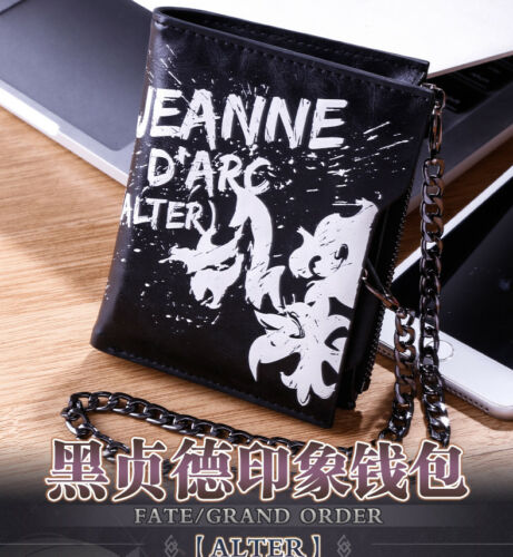 Hot Anime Fate//Grand Order Jeanne d/'Arc Unisex Cartoon Wallet Short Wallet Purse