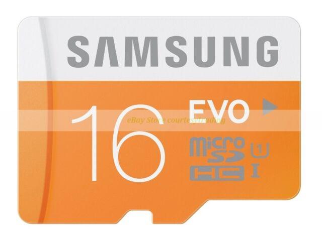 Samsung Micro SD HC 16GB 16G EVO 48MB/SEC Class 10 C10 U1 UHS1 Memory Card New