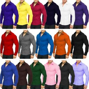 Redbridge-senores-slim-fit-camisa-manga-larga-ocio-Business-Streetwear