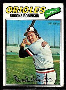 1977-TOPPS-BASEBALL-BALTIMORE-ORIOLES-BROOKS-ROBINSON-CARD-285-VG-FILLER