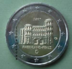 Deutschland 2 Euro Gedenkmünze 2017 Euromünze Rheinland Pfalz Adf
