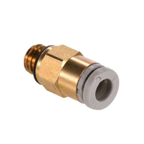 Creality 3D 3D Printer PC4-M6 Thread Pneumatic Connector Tube Fitting Gold G8Z6