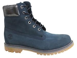 de Af Up Lace cuero mujer marino A196m botas 6 azul Timberland U72 Inch Premium para Zfxaczq