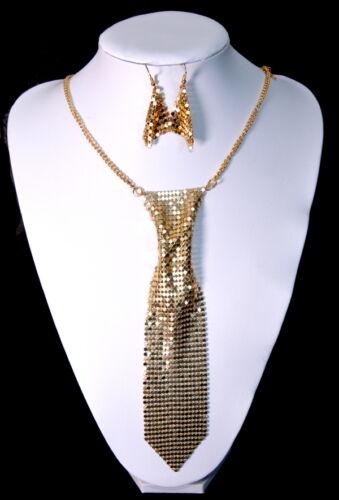 Luxus Set 2 Tlg Kette Ohrringe Schmuckset Collier Halskette Krawatte Paris Netz
