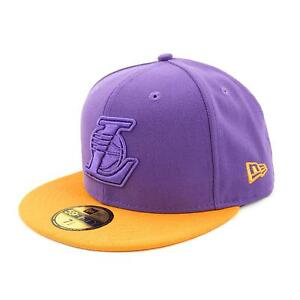 NEUF-Era-Los-Angeles-Lakers-equipe-Pop-TONALE-Casquette-ajustee-Bonnet-violet