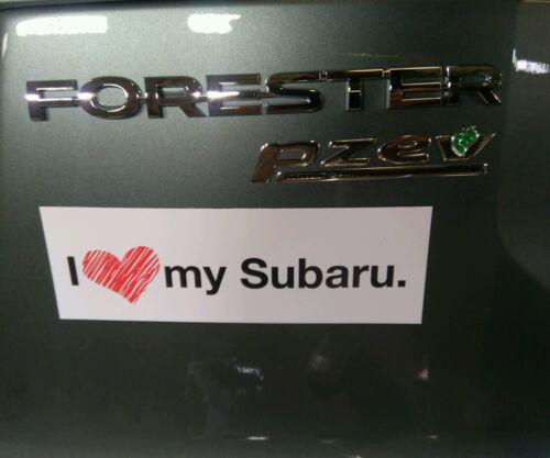 I Love My Subaru Magnetic Bumper Sticker New Original Promotional Unique