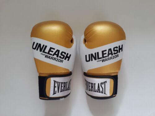 12 Everlast Unleash Your Warrior Boxing Gloves Bag Mitt Training Gold 10 14oz