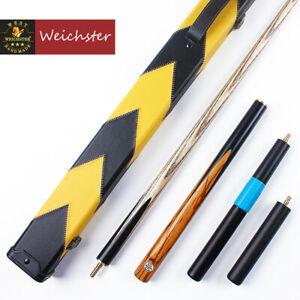 Weichster-3-4-Jointed-Handmade-Ash-Marble-Wood-Snooker-Pool-Cue-Two-Models