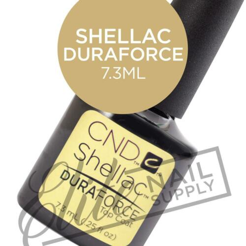 CND SHELLAC DURAFORCE Top Coat 7.3ml + FREE CND Foil Remover Wraps