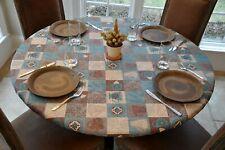 "Lintex Tablecloth ~ Harvest Sunset ~ 70/"" Round NEW"