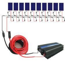1000W grid tie solar system:10*100W solar panel&1KW inverter for RV Home system