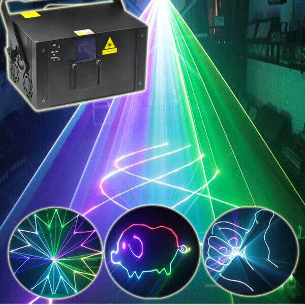 2W ILDA RGB Fullcolor Animation Scan DMX DJ Party Laser Projector Light 25KPPS N