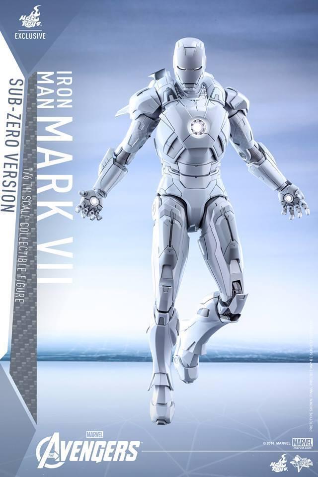 Hot Toys Iron Man Mark VII SUB ZERO Sideshow Exclusive New Mint Sealed Shipper