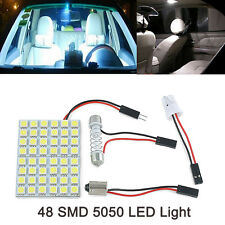 New 12V Car Interior Light Panel 48 SMD LED T10 BA9S Dome Festoon Lamp Adapter