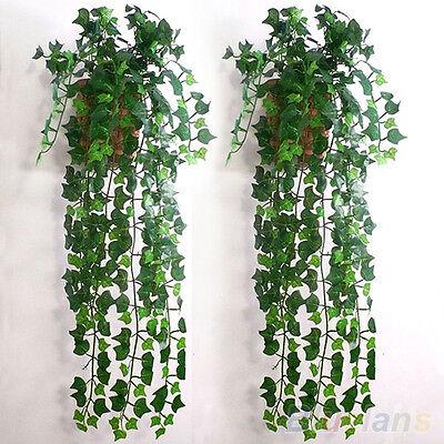 Artificial Ivy Leaf Garland Plants Vine Fake Foliage Flowers Room Wedding DIY