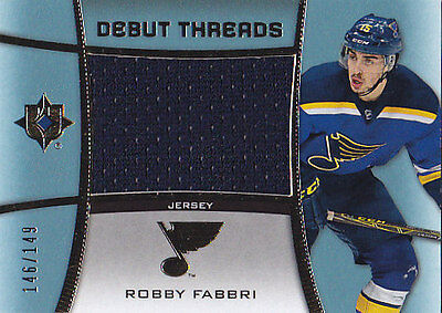 watch 06f89 42e1f 2015-16 UPPER DECK UD ULTIMATE ROBBY FABBRI JERSEY /149 DEBUT THREADS  #DT-FA | eBay