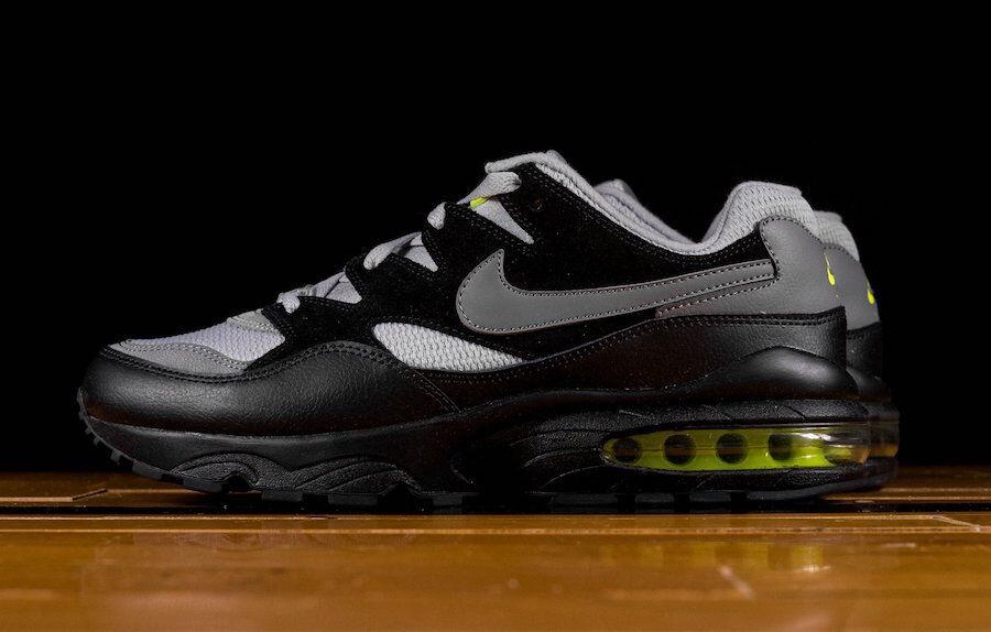 Auténtico Nike Gris Air Max 94 Gris Lobo Gris Nike Frío Negro Volt AV2300 001 Hombre Talla be90b7