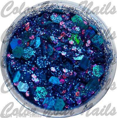 3g Glitter-Pailetten-Mix  DarkBlau-PinkTürkis CM04