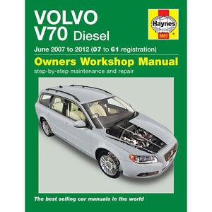 volvo v70 2007 2012 07 61 reg haynes workshop manual ebay rh ebay com volvo v70 workshop manual pdf volvo v70 workshop manual