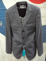 Men's BNWT John Lewis Three Button Mod Style Suit Jacket Size 40L In Grey